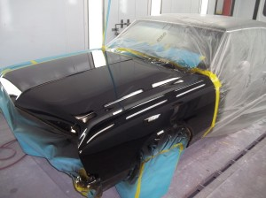 black car paint on a classic '67 Chevelle