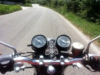 motorcycle rides safe on the road