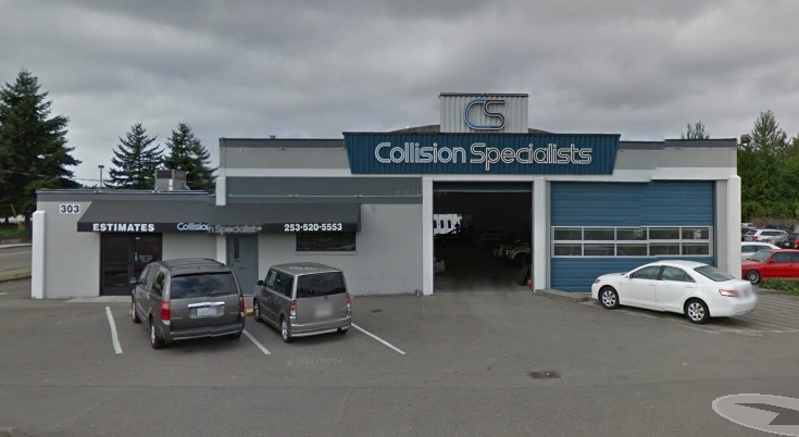 collision specialists kent washington street view
