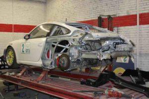 Porsche before a new paint job.