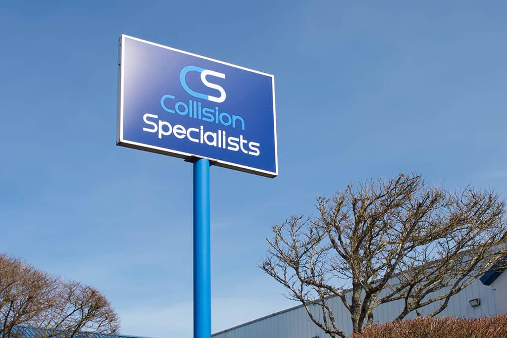 Collision Specialists Tacoma Sign